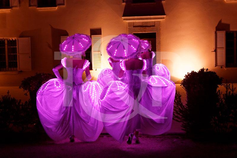 danseuse led cannes, danseuse led, danseuse led cote d'azur, costume led, costumes led