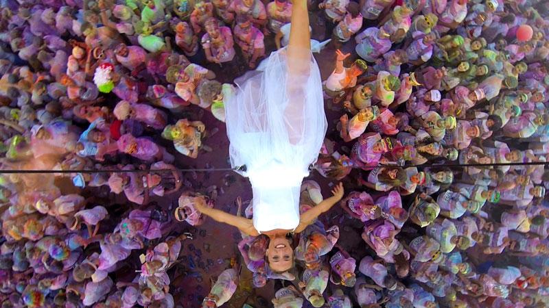 la mariée de la côte d'azur, arrivée de la mariée, spectacle de la mariée, arrivée mariée, mariage côte d'azur, aérien côte d'azur